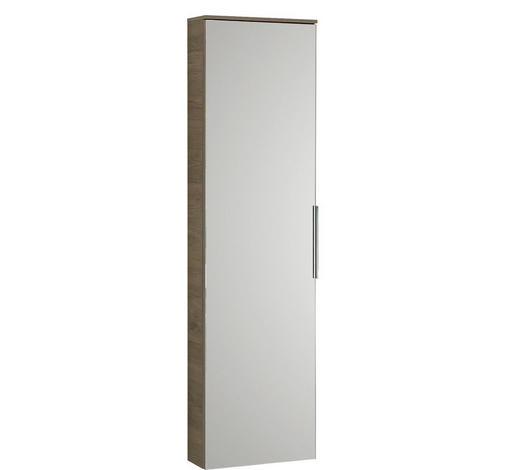 MIDISCHRANK 30/121/17 cm  - Eichefarben, Design, Glas/Holzwerkstoff (30/121/17cm) - Sadena