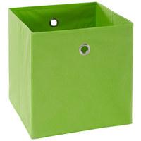 FALTBOX Metall, Textil, Karton Grün, Silberfarben  - Silberfarben/Grün, Design, Karton/Textil (32/32/32cm) - Carryhome