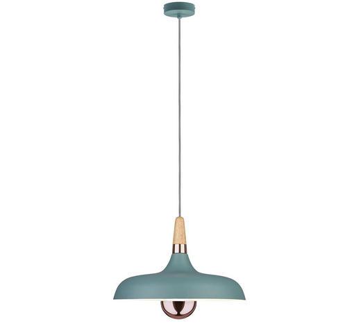 HÄNGELEUCHTE - Mintgrün/Kupferfarben, Design, Holz/Metall (34,2/145,5cm)