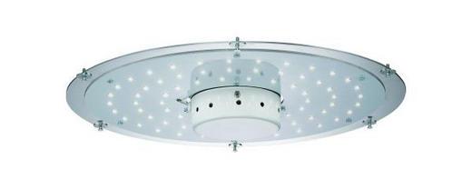 LED-DECKENLEUCHTE - Weiß, LIFESTYLE, Metall (75cm)