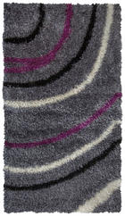 TEPIH VISOKOG FLORA - siva/ljubičasta, Basics, tekstil (80/150cm) - Novel
