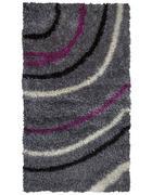 TEPIH VISOKOG FLORA - siva/ljubičasta, Konvencionalno, tekstil (120/180cm) - Novel