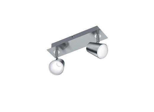 LED-DECKENLEUCHTE - Chromfarben/Nickelfarben, Design, Kunststoff/Metall (9,5/28,5/16,0cm)