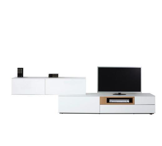 WOHNWAND Wildeiche furniert Weiß, Eichefarben  - Eichefarben/Weiß, Design, Holz (315/77/47cm) - Dieter Knoll