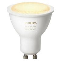LEUCHTMITT. HUE WHITE AMBIANCE  GU10 5,5 W  - Weiß, Design, Kunststoff (5,0/5,7/5,0cm) - Philips