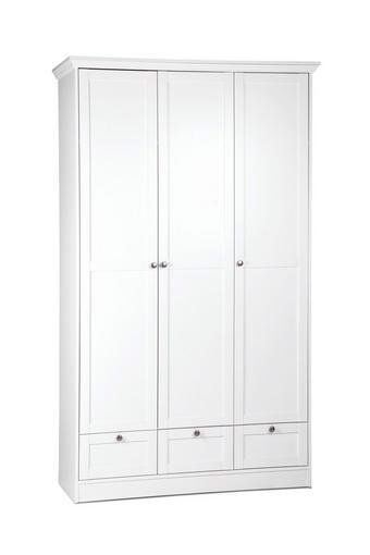KLEIDERSCHRANK Melamin Weiß - Silberfarben/Weiß, LIFESTYLE, Metall (120/200/51cm) - Carryhome
