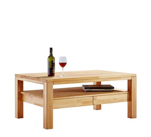 COUCHTISCH in Holz 110/70/48 cm - Buchefarben, Design, Holz/Kunststoff (110/70/48cm) - Linea Natura
