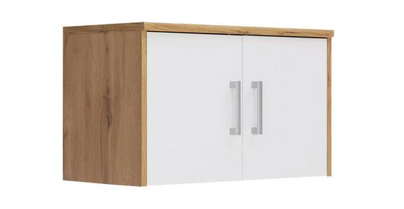 AUFSATZSCHRANK - Eichefarben/Silberfarben, KONVENTIONELL, Holzwerkstoff/Kunststoff (72/43/36cm) - Xora