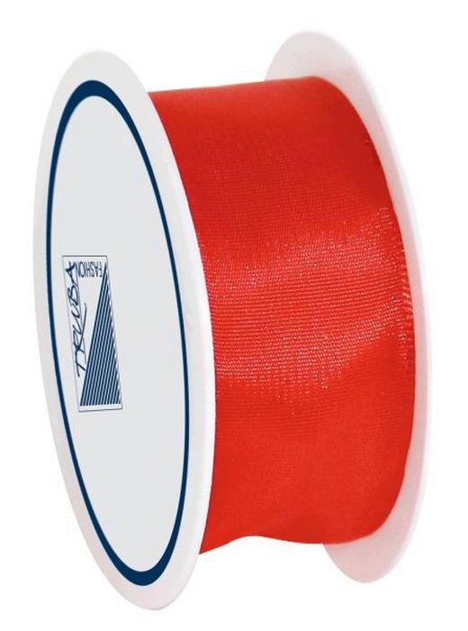 GESCHENKBAND - Rot, Basics, Textil (2.5/1/7cm)