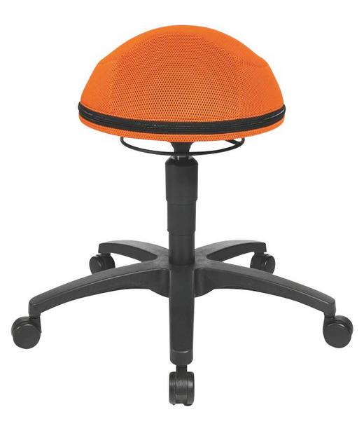 BÜROHOCKER Orange, Schwarz - Schwarz/Orange, Design, Kunststoff/Textil (40/53-66cm)