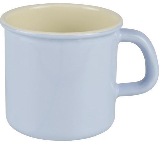 KAFFEEBECHER 500 ml - Blau, Basics, Metall (13/10/9cm) - Riess