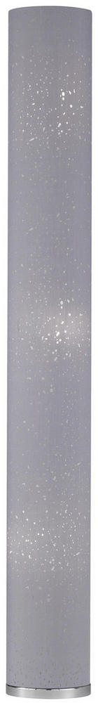 STEHLEUCHTE - Chromfarben/Grau, Design, Textil/Metall (19/156cm)