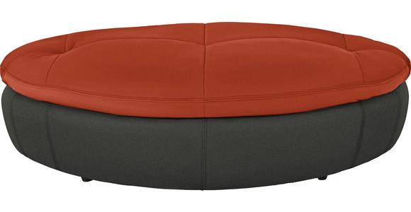 HOCKER in Textil Anthrazit, Rot - Anthrazit/Rot, Design, Kunststoff/Textil (155/47/78cm) - Hom`in