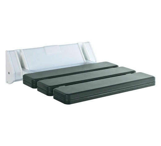 DUSCHHOCKER Metall, Kunststoff  - Weiß/Grau, Basics, Kunststoff/Metall (32/23cm)