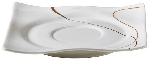 UNTERTASSE - Braun/Weiß, Basics (12/12/2cm) - Ritzenhoff Breker