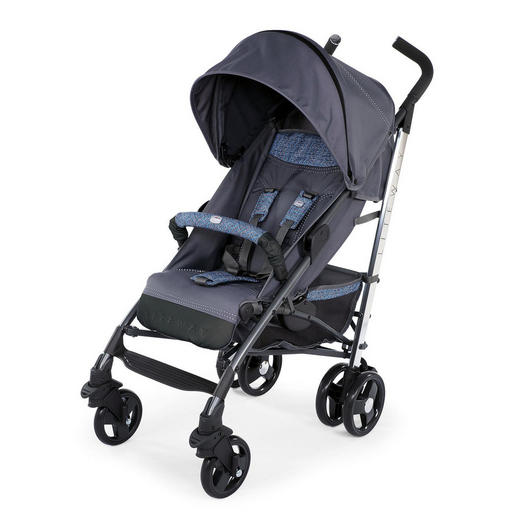 BUGGY Lite Way 3 - Blau, Basics, Textil/Metall (87,5/46,5/103cm) - Chicco