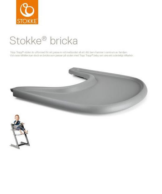 Tripp Trapp Tray Table Top Storm Grey - Grau, Basics, Kunststoff (45/41/4cm) - Stokke