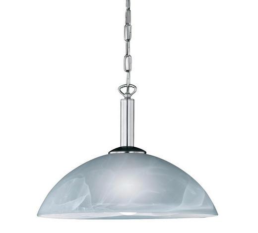 HÄNGELEUCHTE - Weiß/Nickelfarben, KONVENTIONELL, Glas/Metall (40cm)