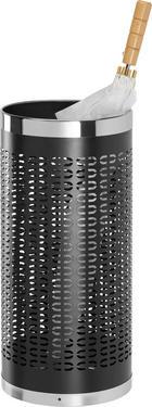 STOJAN NA DEŠTNÍK - černá/barvy nerez oceli, Basics, kov (23/50cm) - XORA