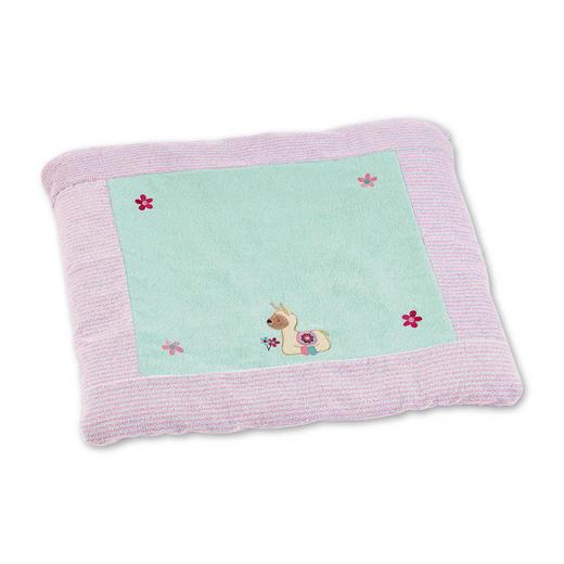 WICKELAUFLAGENBEZUG Lama Lotte - Rosa/Mintgrün, Basics, Textil (80/90/0,5cm) - Sterntaler