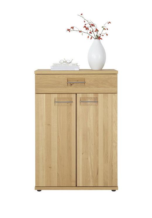 SCHUHSCHRANK Wildeiche teilmassiv Eichefarben - Eichefarben/Alufarben, Design, Holz/Holzwerkstoff (70/103/37cm)