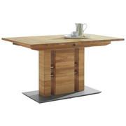 ESSTISCH in Holz, Metall 140(185)/90/75 cm - Eichefarben, KONVENTIONELL, Holz/Holzwerkstoff (140(185)/90/75cm) - Moderano