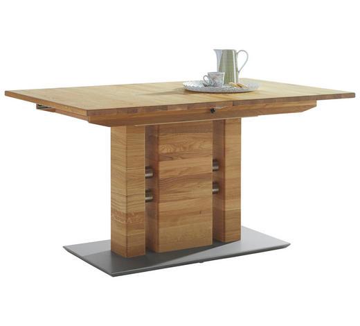 ESSTISCH in Holz, Metall 120(165)/80/75 cm - Eichefarben, KONVENTIONELL, Holz/Holzwerkstoff (120(165)/80/75cm) - Moderano