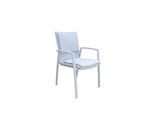 STOLICA SLOŽIVA - bijela/boje aluminija, Design, metal (58/91/63cm) - Amatio