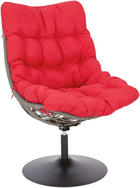 GARTEN-RELAXSESSEL - Rot/Schwarz, Design, Kunststoff/Textil (73/110/46cm) - AMBIA GARDEN