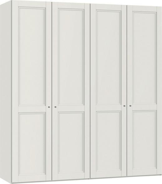 DREHTÜRENSCHRANK 4-türig Weiß - Weiß, Design, Holzwerkstoff/Metall (202,5/220/58,8cm) - Jutzler