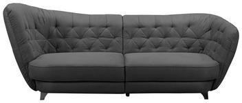 MEGASOFA in Textil Anthrazit  - Chromfarben/Anthrazit, MODERN, Textil/Metall (256/98/115cm) - Carryhome