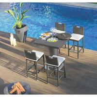 BARSKI STOL - crna, Design, staklo/metal (90/120/90cm) - Ambia Garden