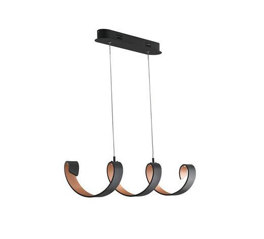 VISEČA LED-SVETILKA - črna/zlata, Design, kovina (135/120/80cm)