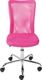 JUGENDDREHSTUHL Netz Pink - Chromfarben/Pink, Design, Kunststoff/Textil (43/88-98/56cm) - CARRYHOME