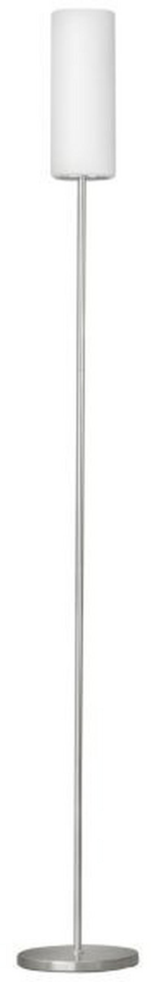 STEHLEUCHTE - Nickelfarben, KONVENTIONELL, Glas/Metall (10,5/153cm)