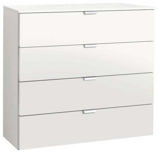 KOMMODE Weiß - Alufarben/Weiß, Design, Metall (80/80/42cm) - Carryhome