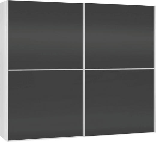SCHWEBETÜRENSCHRANK 2-türig Schwarz, Weiß - Schwarz/Weiß, Design (202/220/67cm) - Xora