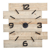 WANDUHR 80/80/4 cm - Naturfarben, LIFESTYLE, Holz (80/80/4cm) - CARRYHOME