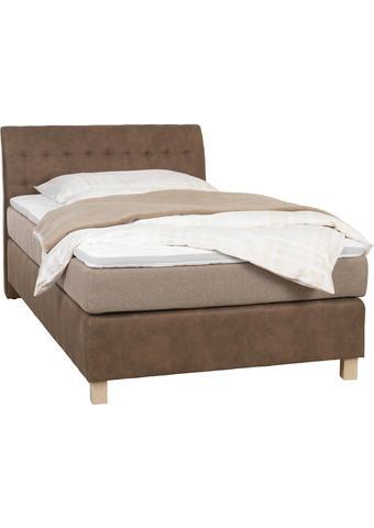 POSTEL BOXSPRING, 120 cm  x 200 cm, textilie, béžová, světle hnědá - barvy dubu/béžová, Konvenční, textilie/umělá hmota (120/200cm) - Xora