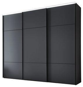 ORMAR - VISEĆA KLIZNA VRATA - Crna, Dizajnerski, Metal/Staklo (280/222/68cm) - Moderano