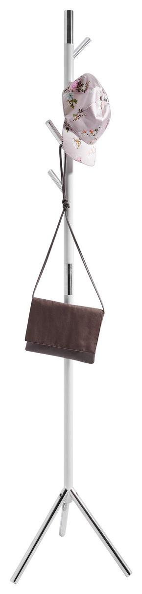 KLÄDHÄNGARE - vit/silver, Design, metall/plast (44/179/36cm) - Xora