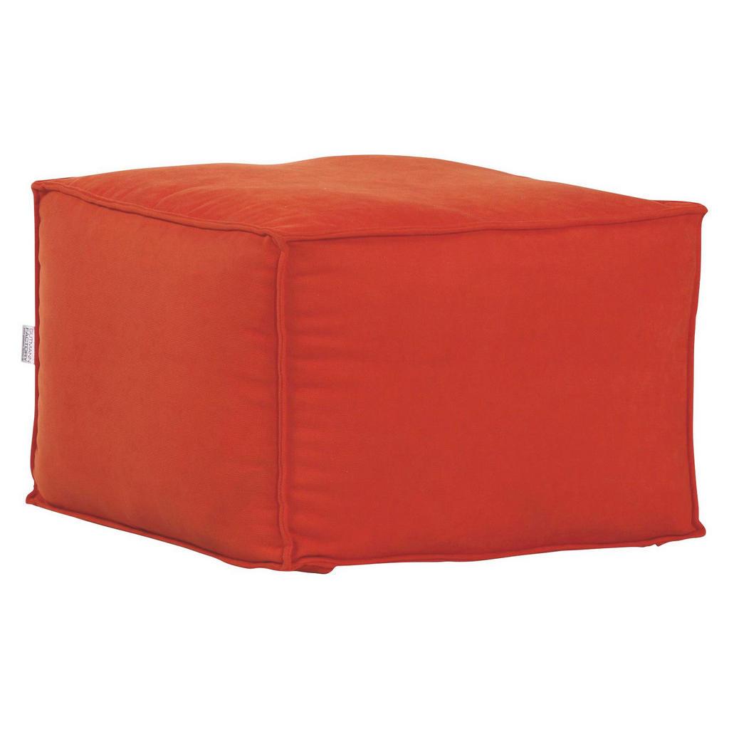Carryhome SITZWÜRFEL Flachgewebe Orange | Wohnzimmer > Hocker & Poufs > Sitzwürfel | Textil | Carryhome