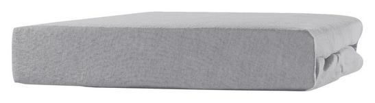 Spannleintuch Tamara - Grau, KONVENTIONELL, Textil (140-160/200cm) - Ombra