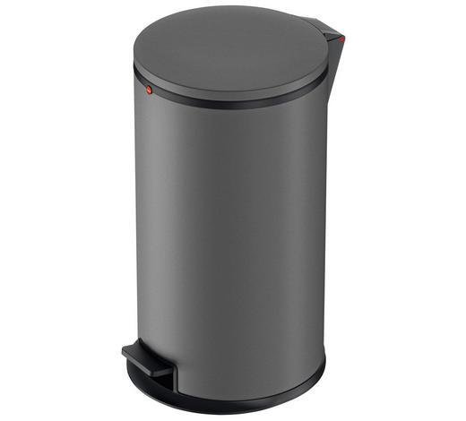 ABFALLSAMMLER 25 L - Schwarz/Grau, Basics, Kunststoff/Metall (25l) - Hailo