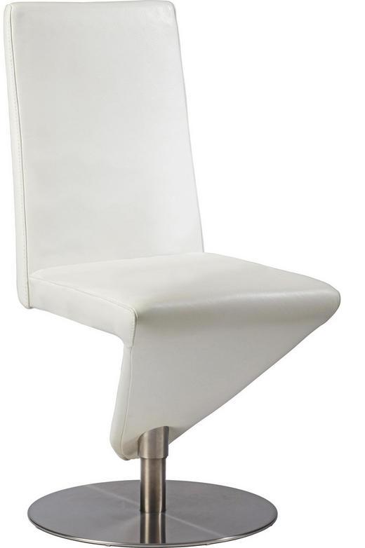 STUHL Echtleder Weiß - Weiß, Design, Leder/Metall (47/99/61cm) - MUSTERRING