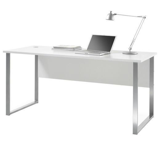 PISAĆI STOL - boje srebra/svijetlo siva, Design, drvni materijal/metal (170/76/73cm) - Xora