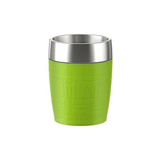 ISOLIERBECHER - Edelstahlfarben/Limette, Basics, Kunststoff/Metall (9/8/10,7cm) - Emsa