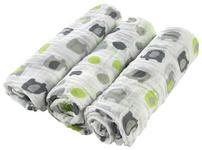 STOFFWINDEL 3-teilig  - Weiß/Grau, Basics, Textil (80/80cm) - My Baby Lou