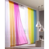 SCHLAUFENVORHANG transparent - Weiß, Basics, Textil (140/245cm) - Boxxx