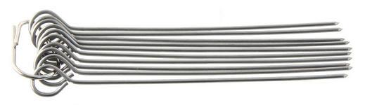GRILLSPIEßE - Edelstahlfarben, Basics, Metall (10cm) - Homeware